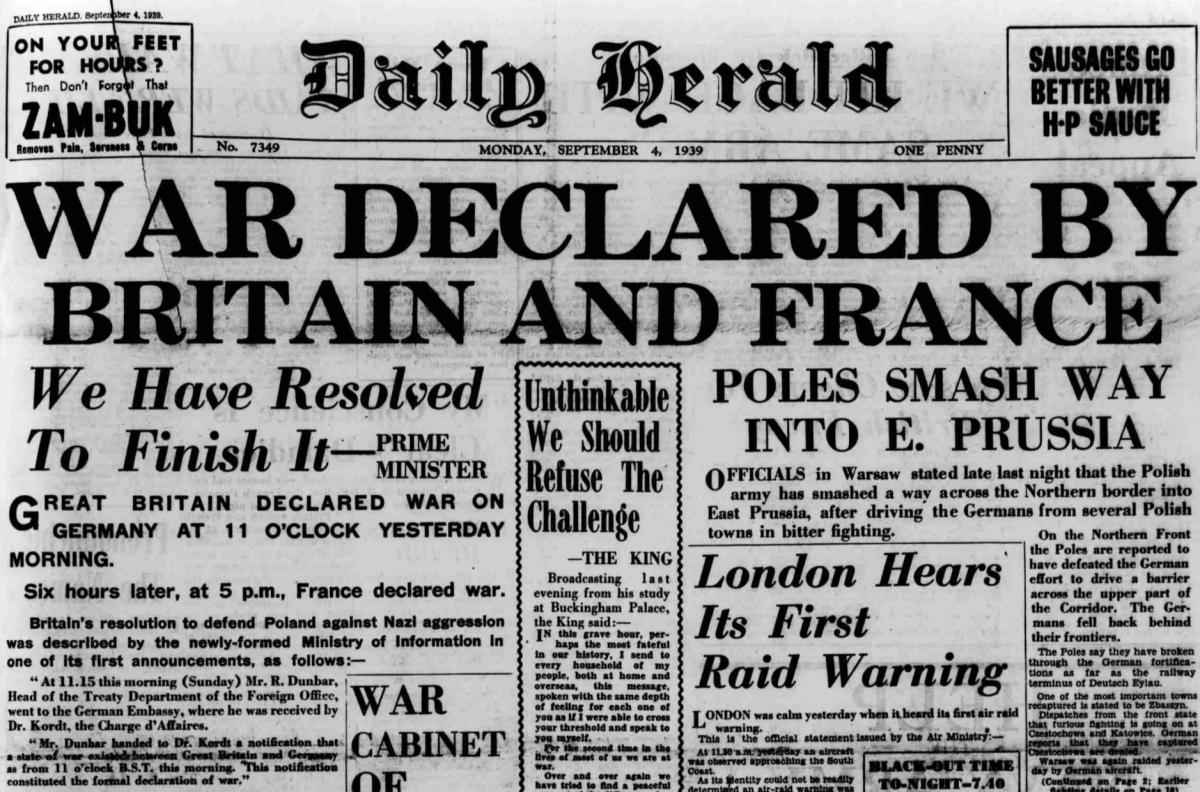 1939 - Britain Declares War